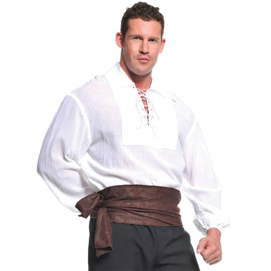 Pirate Shirt White Adult Costume Xlarge - Halloween costumes Mens Costumes Mens
