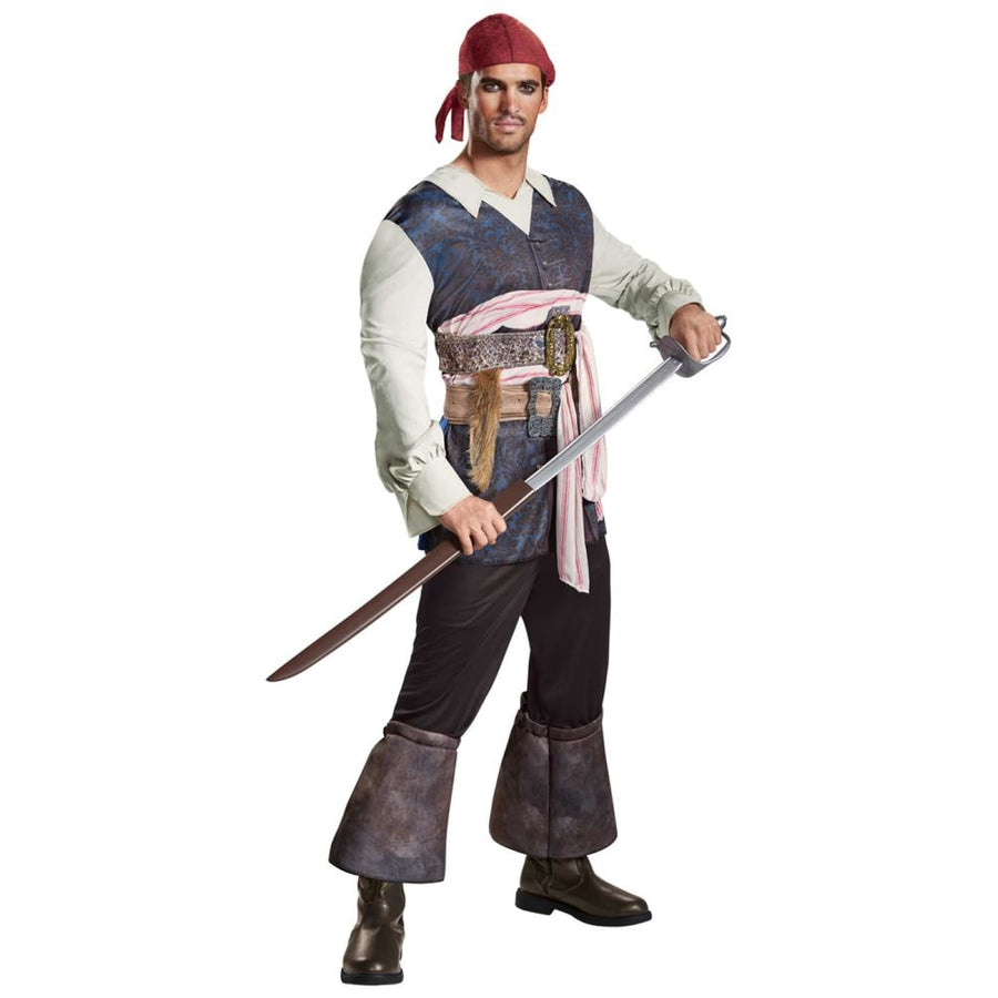 Pirates of the Caribbean 5 Capt Jack Adult Costume Xlarge 50-52 - adult