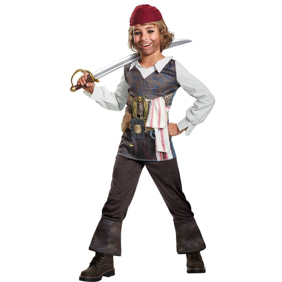 Pirates of the Caribbean 5 Capt Jack Classic Boys Costume Small 4-6 - Boys