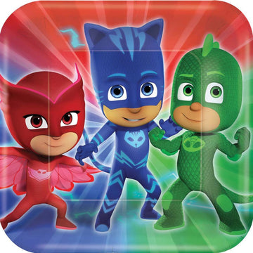 Pj Masks 9 Inch Plates -Set of 8 - Birthday Party Decorations Birthday Party