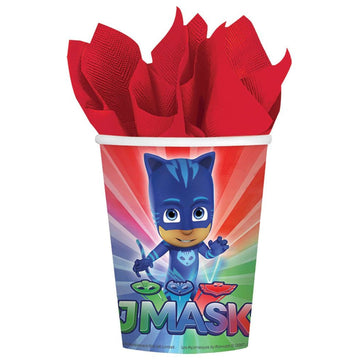 Pj Masks 9 Oz Paper Cups -Set of 8 - Birthday Party Decorations Birthday Party