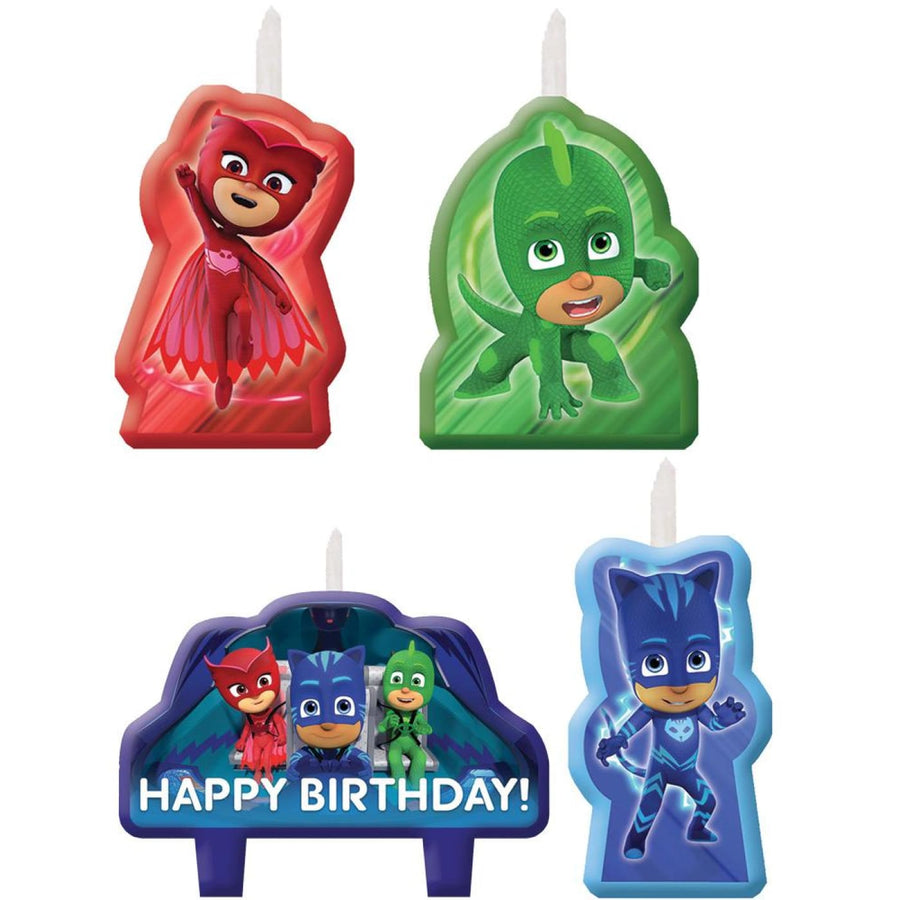 Pj Masks Candles -Set of 4 - Birthday Party Decorations Birthday Party Plates