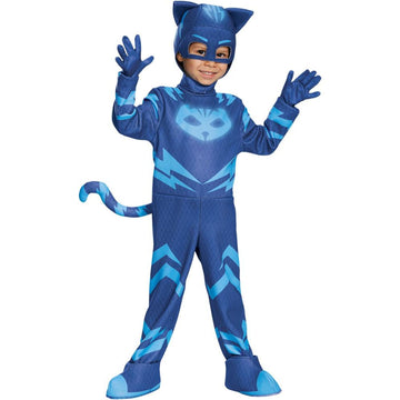 PJ Masks Catboy Deluxe Toddler Costume 2T - Animal & Insect Costume Halloween