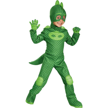 PJ Masks Gekko Deluxe Toddler Costume 3-4T - Halloween costumes New Costume PJ
