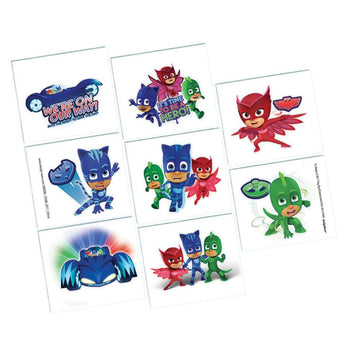 Pj Masks Temporary Tattoos -Set of 8 - Birthday Party Decorations Birthday Party