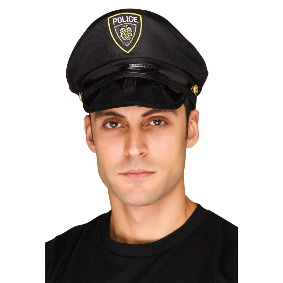 Police Hat Adult - Convict & Cop Costume Halloween costumes Hats Tiaras &