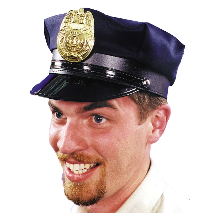 Police Hat Black 1 Sz - Halloween costumes Hats Tiaras & Headgear Military &