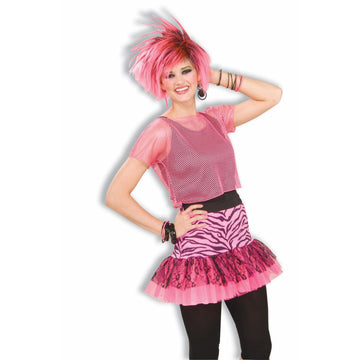 Pop Party Skirt Pink - 80s Costume Halloween costumes