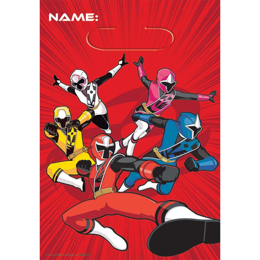 Power Rangers Loot Bags -Set of 8 - Birthday Party Decorations Birthday Party