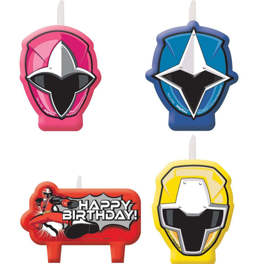 Power Rangers Ns Candles -Set of 4 - Birthday Party Decorations Birthday Party