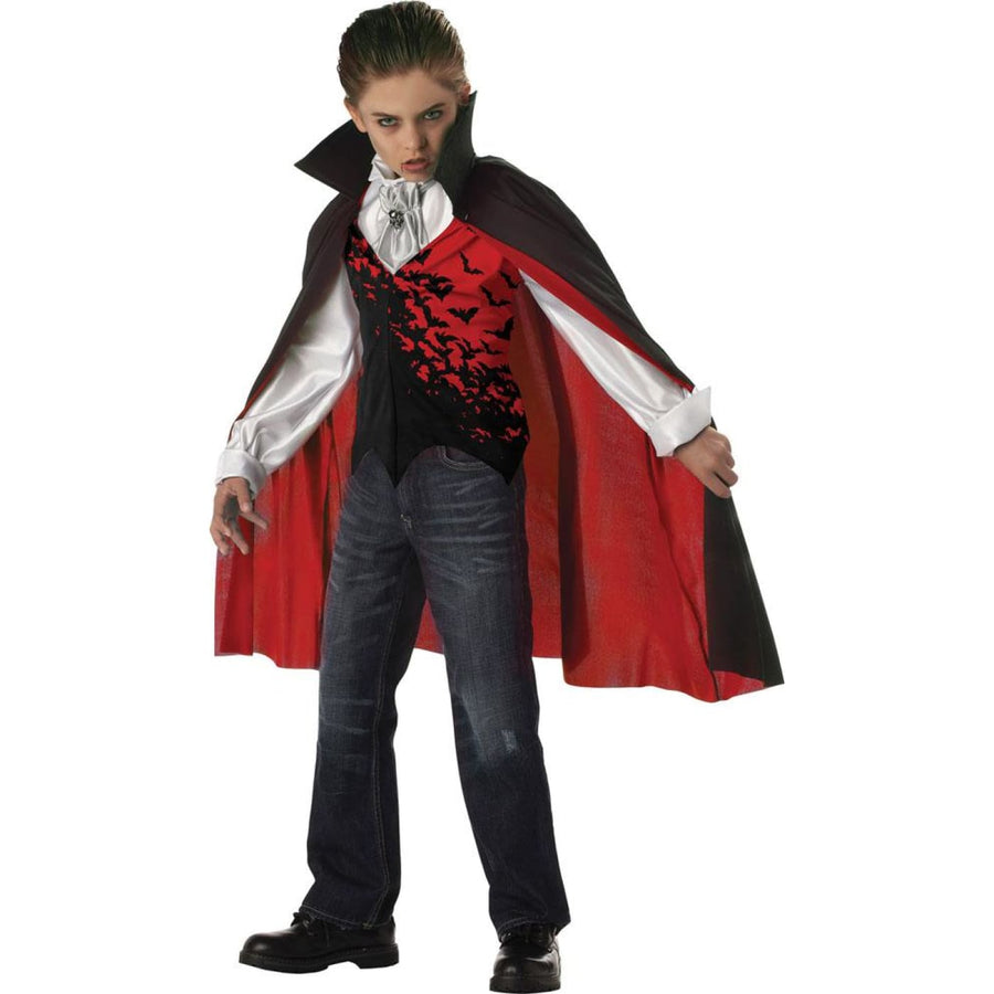 Prince Of Darkness Boys Costume Large 10-12 - Boys Costumes boys Halloween