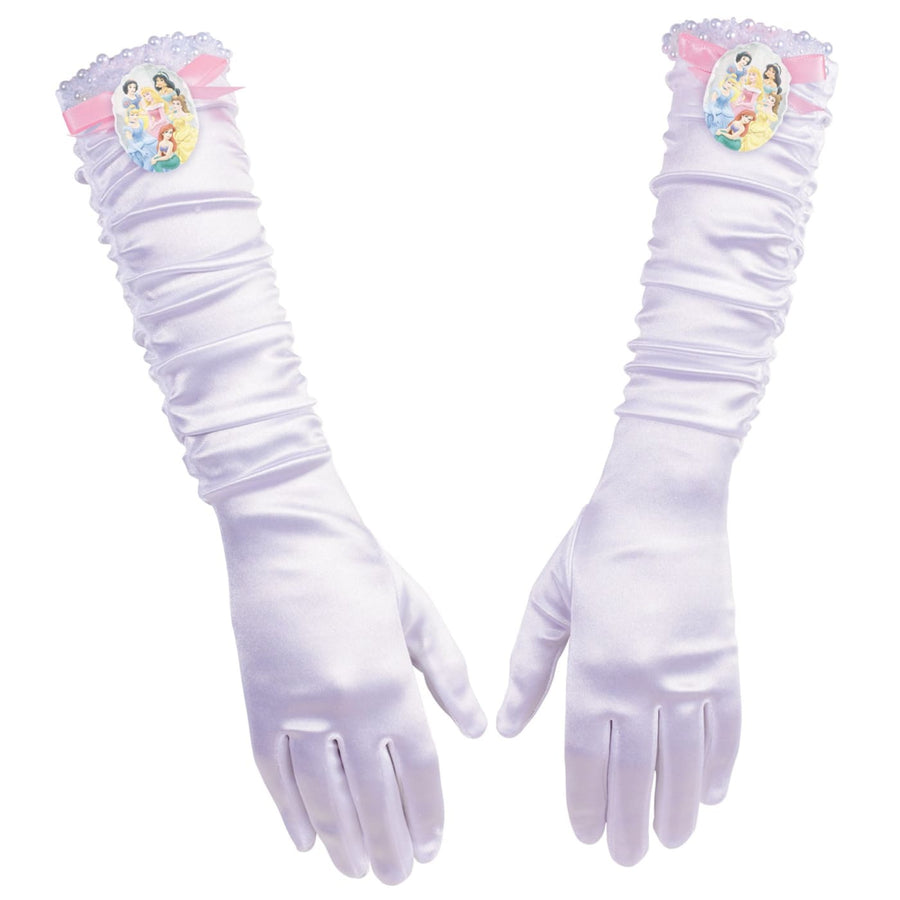 Princess Childs Full Length Gloves - Glasses Gloves & Neckwear Halloween