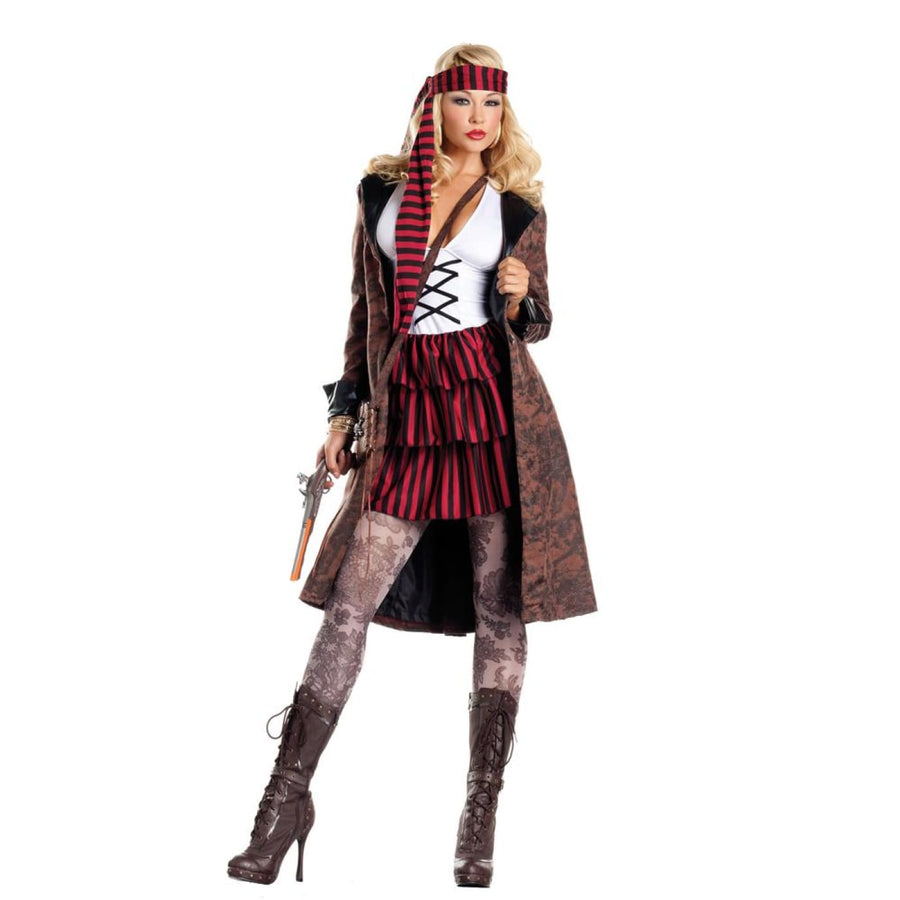 Provocative Pirate Adult Costume Small-Medium - adult halloween costumes female