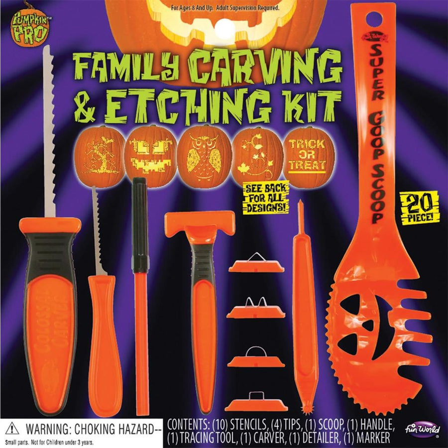 Pumpkin Carving and Etch Kit 20 Pieces - Halloween costumes New Costume