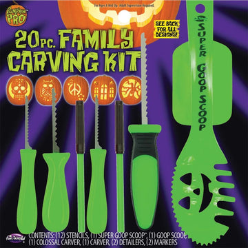 Pumpkin Carving Green Set 20 Pieces - Halloween costumes New Costume Pumpkin