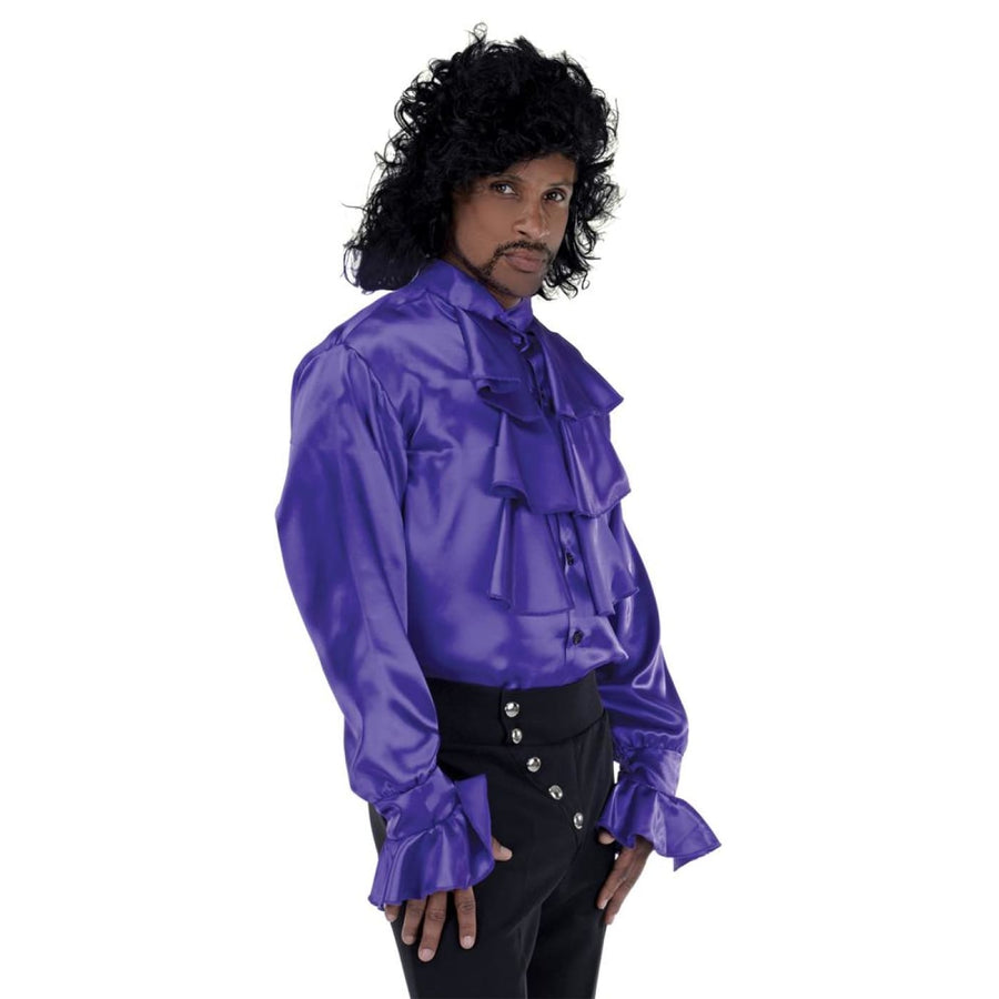 Purple Pop Star Shirt Adult Costume Standard Size - 80s Costume adult halloween
