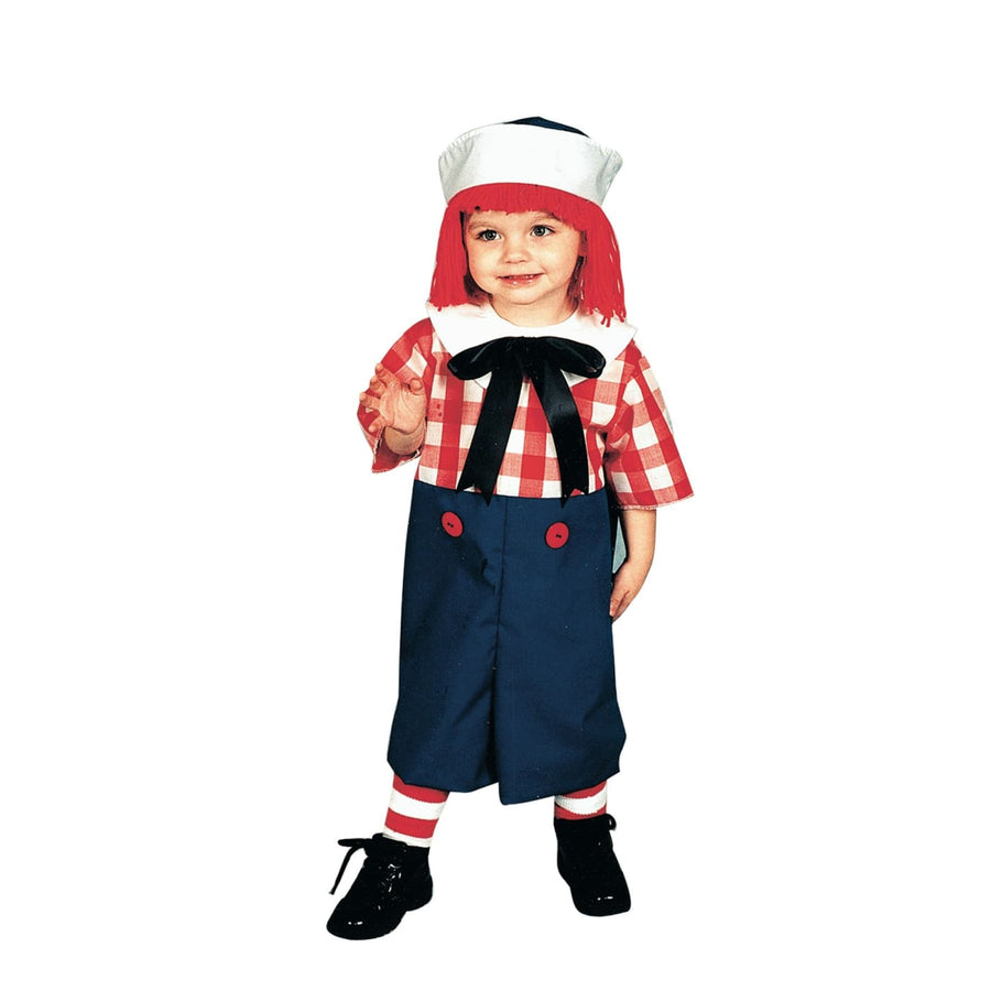 Raggedy Andy Toddler Costume 2 To 4 - Halloween costumes Toddler Costumes