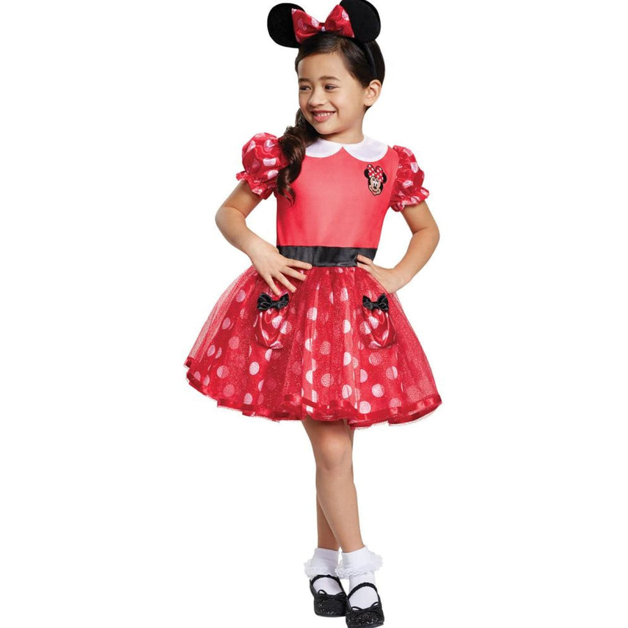 Red Minnie Mouse Toddler Costume 3-4T - Halloween costumes New Costume Toddler