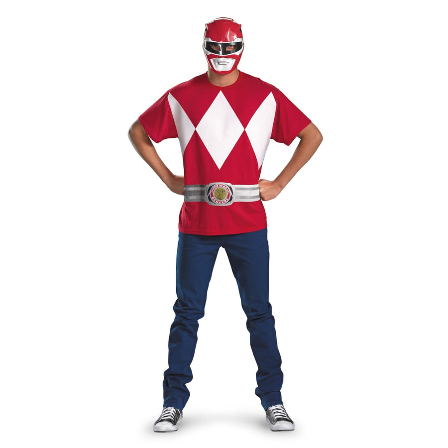 Red Ranger Alternative 50-52 - adult halloween costumes halloween costumes male