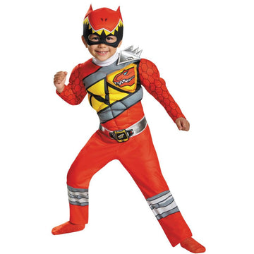 Red Ranger Dino Muscle Toddler Costume 3T-4T - featured Halloween costumes