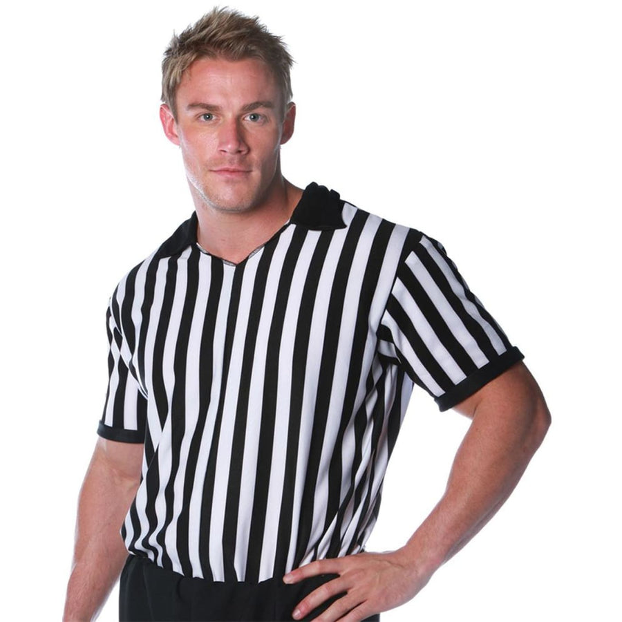 Referee Shirt Adult Costume Standard Size - Halloween costumes Mens Costumes