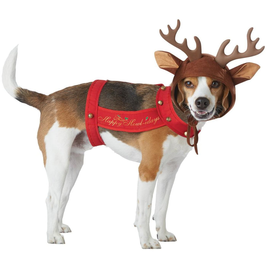 Reindeer Pet Dog Costume Md - Dog Costume Dog Halloween Costume Halloween