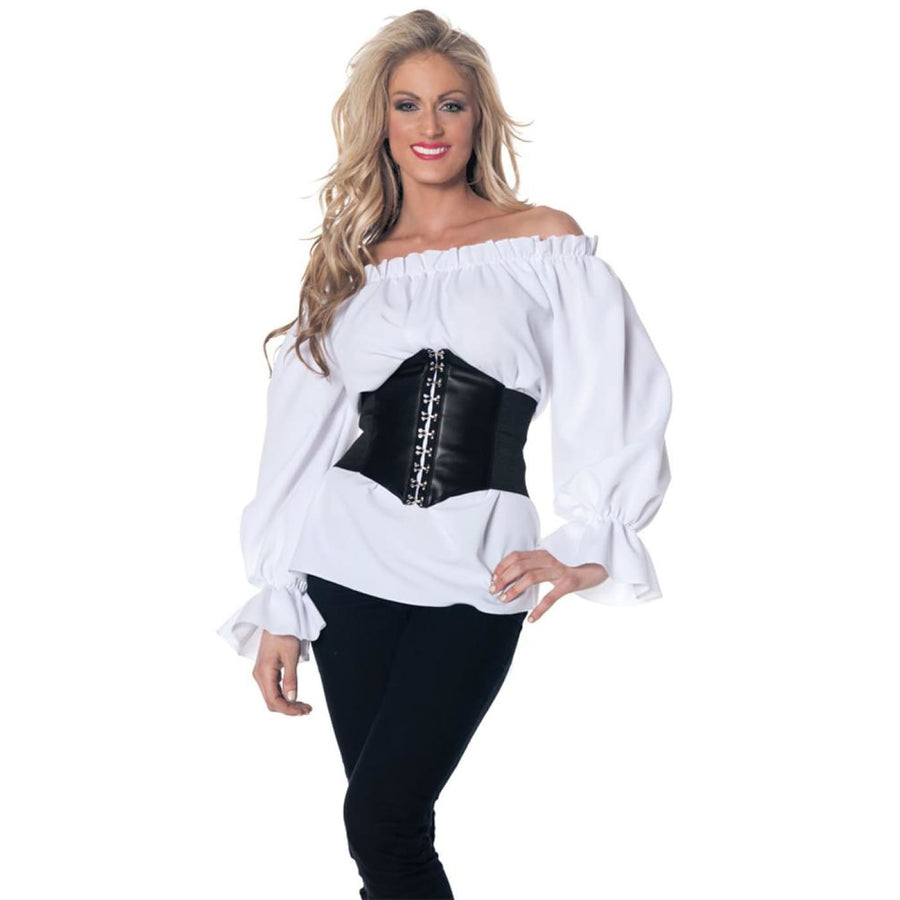 Renaissance Long Sleeve White Adult Costume Large - adult halloween costumes