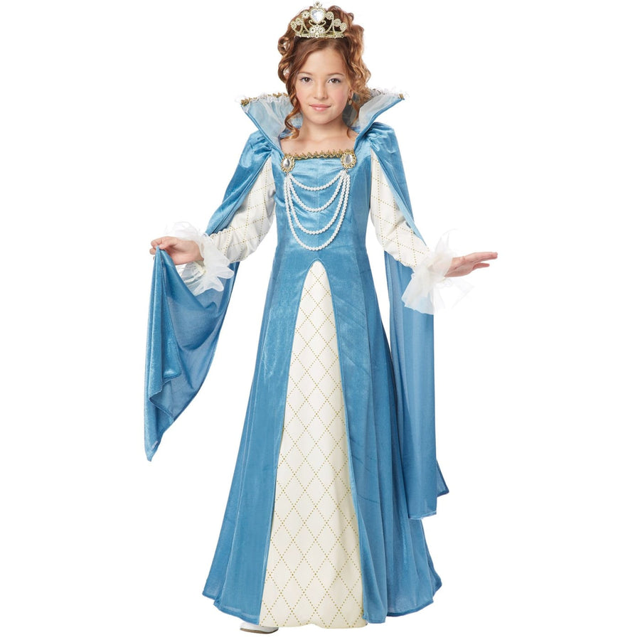 Renaissance Queen Kids Costume Small 6-8 - Fairytale Costume Girls Costumes