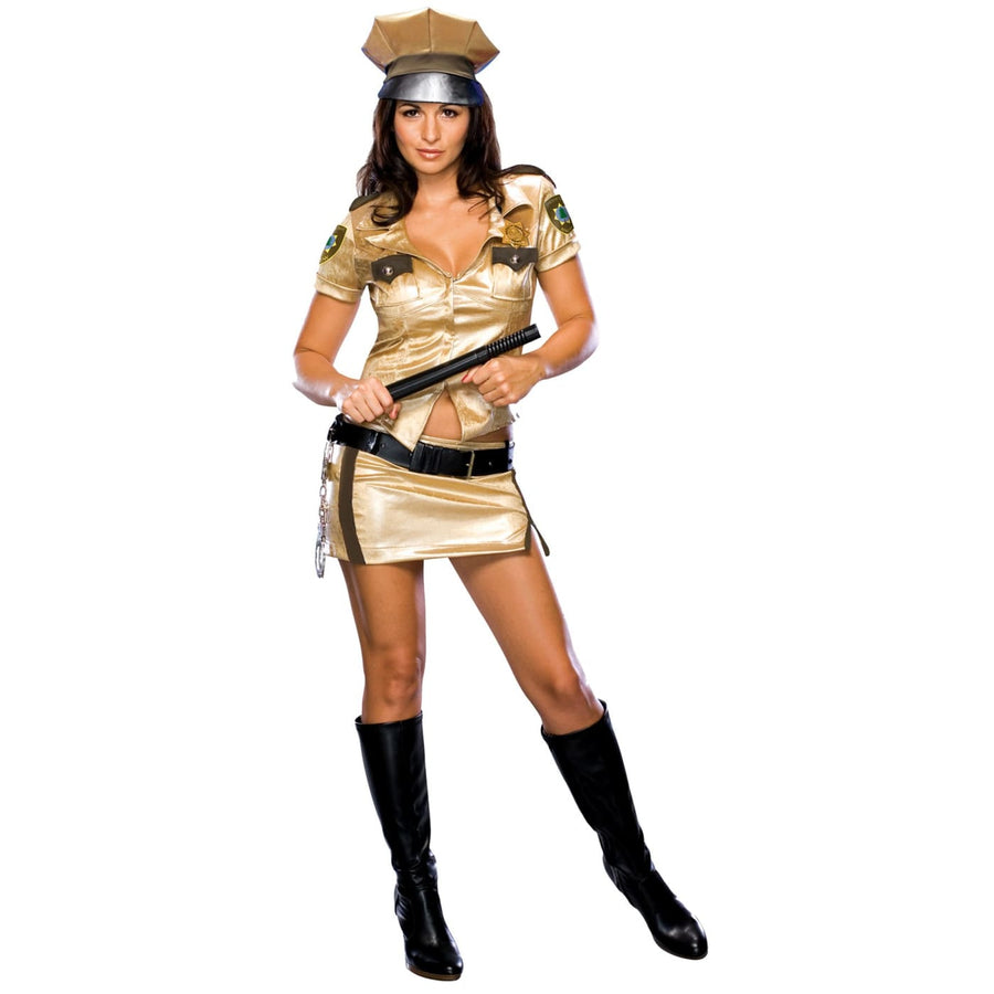 Reno 911 Female Deputy Medium - adult halloween costumes Convict & Cop Costume