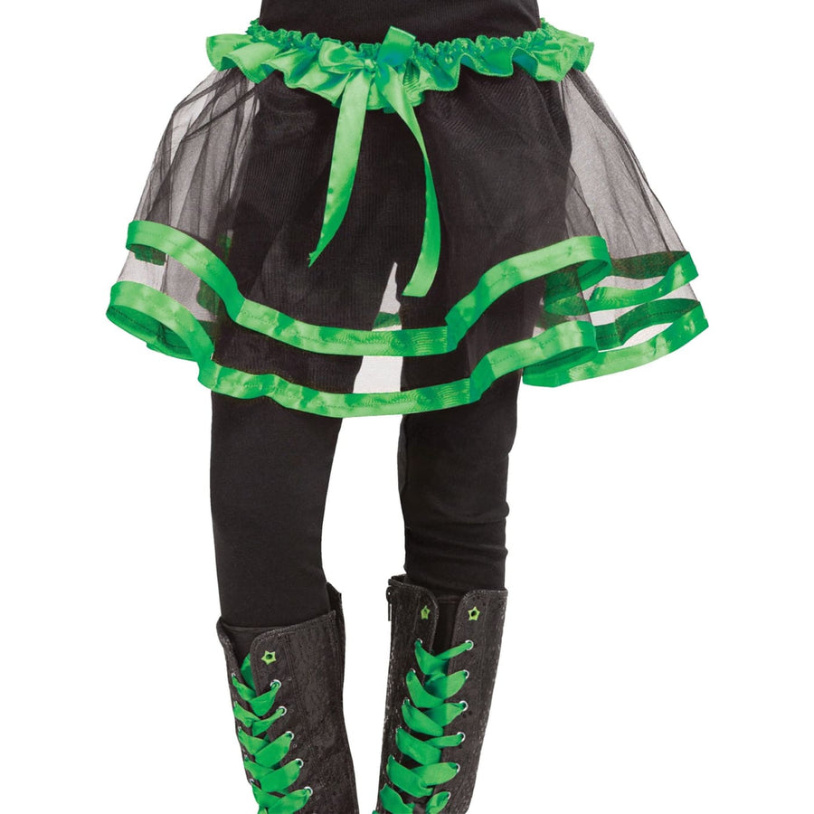Ribbon Tutu Child Green - Halloween costumes Tights Socks & Underwear