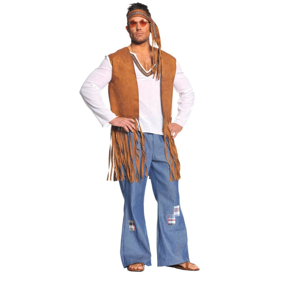Right On Mens 2x - 60s - 70s Costume Halloween costumes Mens Costumes Mens Plus