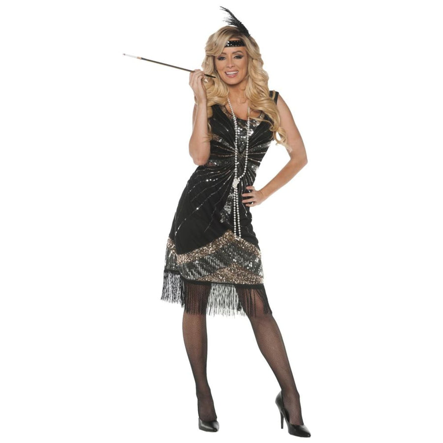 Roaring 20s Adult Costume Large - adult halloween costumes Gangster & Flapper