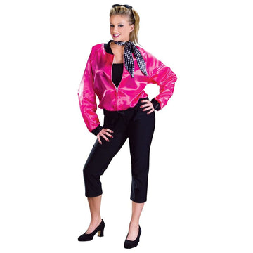 Rock Roll Pink Adult Costume Medium-Large - 50s Costume adult halloween costumes