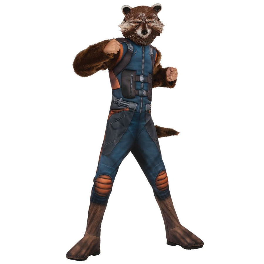 Rocket Racoon Deluxe Boys Costume Md - Boys Costumes Halloween costumes New