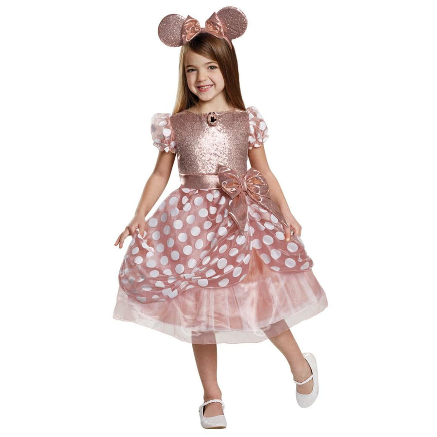 Rose Gold Minnie Deluxe Girls Costume 7-8 - Girls Costumes New Costume