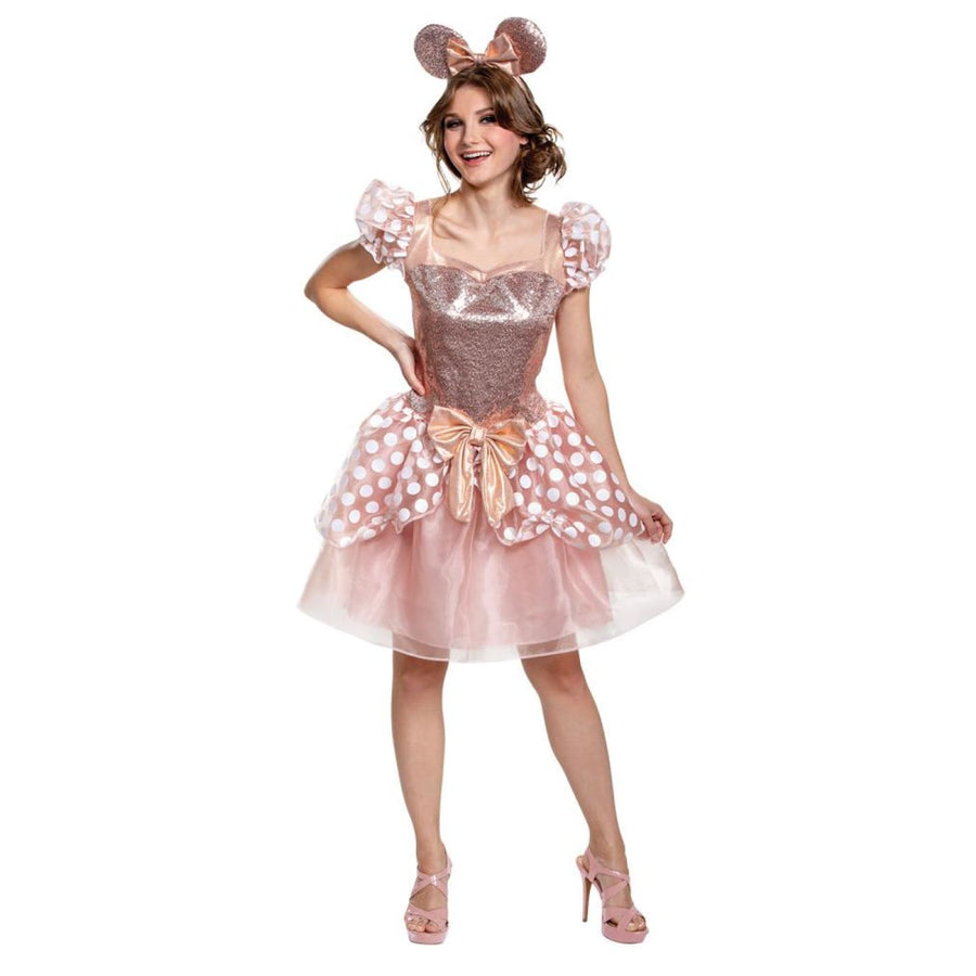 Rose Gold Minnie Deluxe Womens Costume 12-14 - New Costume Womens Costumes