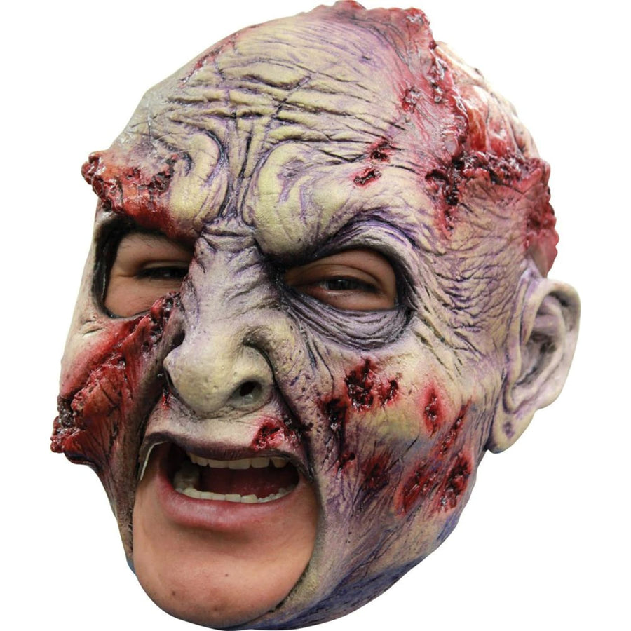 Rotted Chinless Latex Mask - Costume Masks Ghoul Skeleton & Zombie Costume