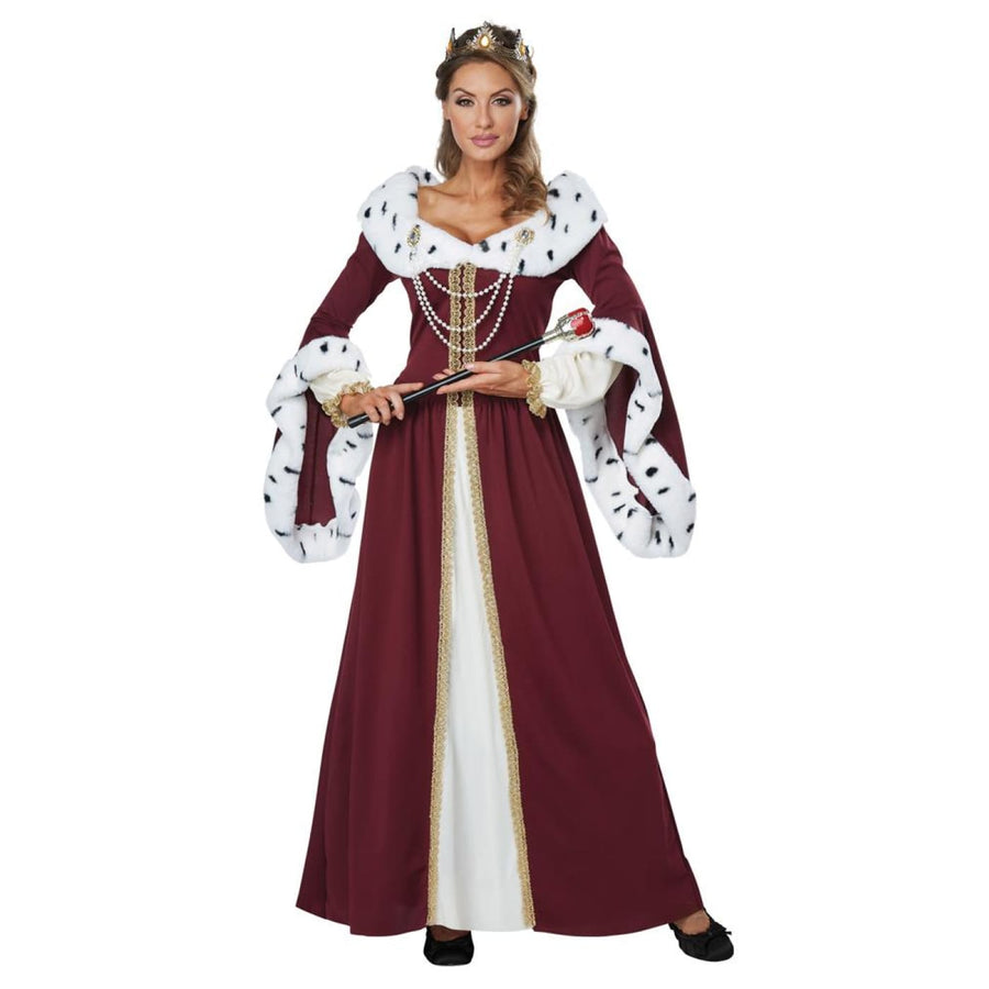 Royal Storybook Queen Adult Costume Large 10-12 - adult halloween costumes