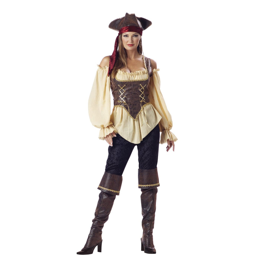Rustic Pirate Lady Adult M - adult halloween costumes female Halloween costumes
