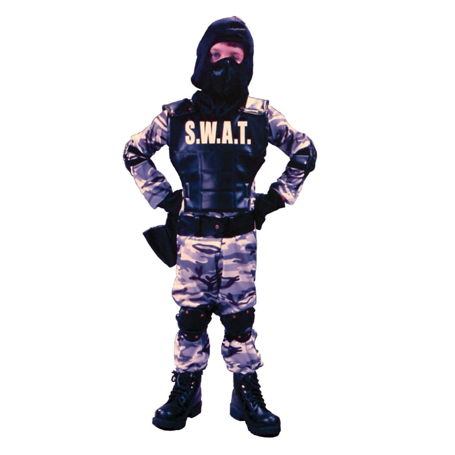 S W A T Boys Costume Sm - Boys Costumes Convict & Cop Costume Halloween costumes