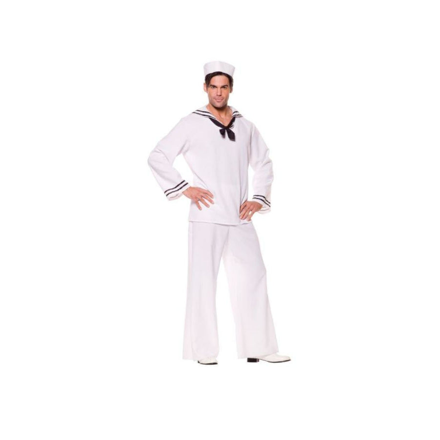 Sailor Shirt White Male Xl - adult halloween costumes halloween costumes Holiday