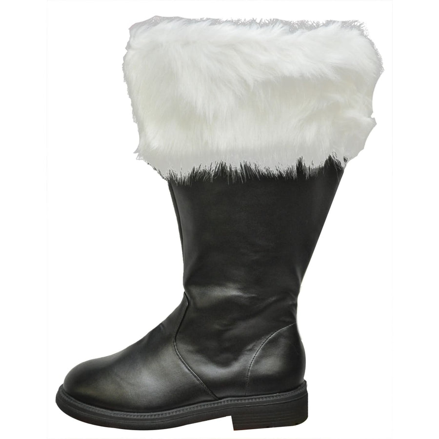 Santa Boot Wide Calf Fur Cuff Md - New Costume