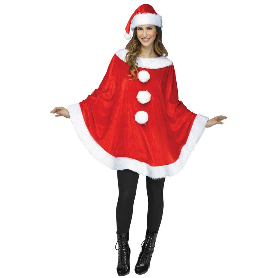 Santa Poncho Adult Costume - adult halloween costumes Halloween Costumes Womens