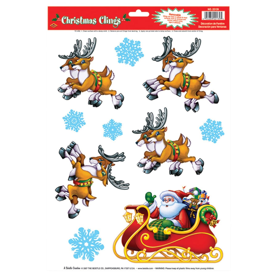 Santa Sleigh Clings - Decorations & Props Halloween costumes haunted house