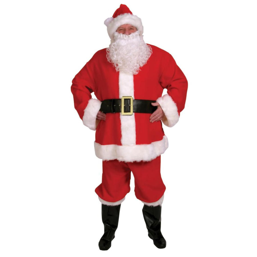 Santa Suit Adult With 10 Pieces - Halloween costumes Holiday Costumes Mens