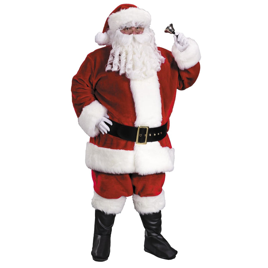 Santa Suit Prem Plush 2x - adult halloween costumes halloween costumes Holiday