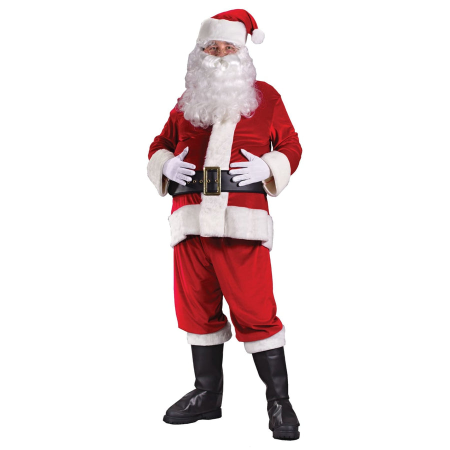 Santa Suit Rich Velvet Plus Sz - adult halloween costumes halloween costumes