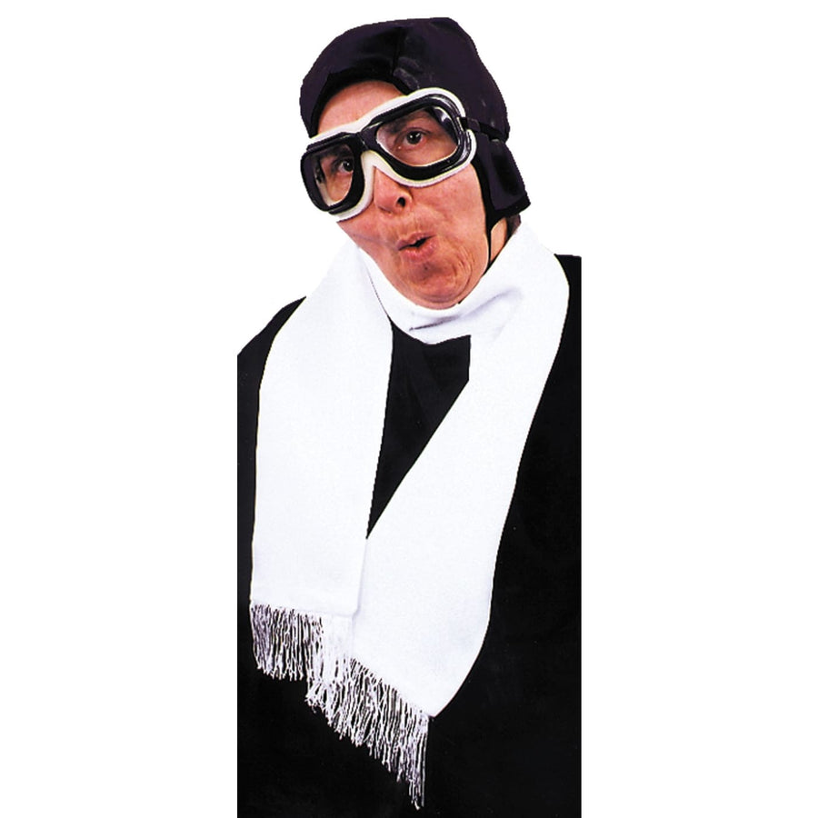 Scarf Aviator White - Halloween costumes Military & Uniform Costume