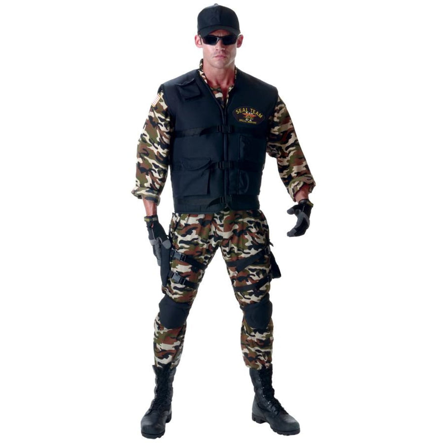 Seal Team Deluxe Adult Costume Xxl - adult halloween costumes halloween costumes