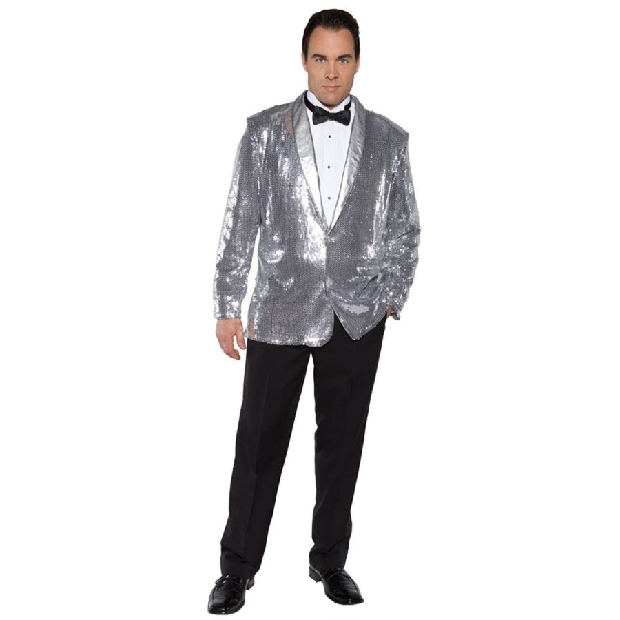 Sequin Jacket Silver Adult Costume - Halloween costumes Mens Costumes Tights